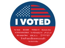 """L.A. County """"I Voted"""" sticker"""