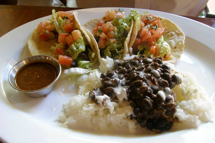 Short rib tacos at La Grande Orange